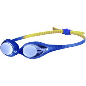 arena Spider Mirror Lunettes de protection Enfant, bleu/jaune